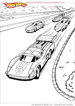 coloriage hot wheels course de voitures sur hugolescargot   coloriage hot wheels, voiture