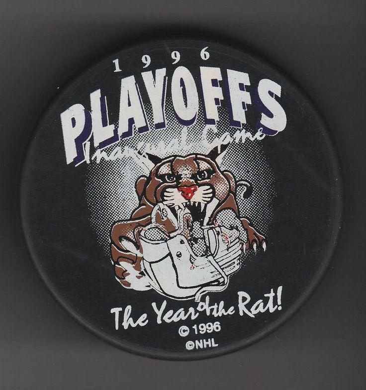 Florida Panthers 1996 Inaugural Game Playoffs NHL Hockey Puck Year of the RAT #FloridaPanthers