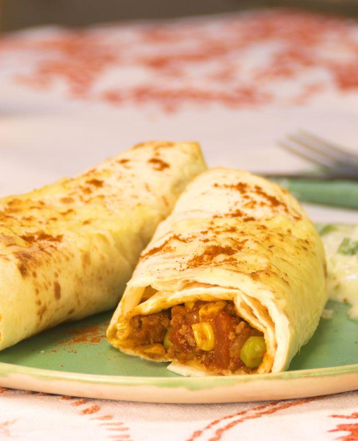Enchiladas mit Hackfleisch und Gemüse