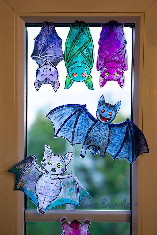 Lustige Fledermause Als Fensterdeko Halloween Deko Weihnachtsschmuck Diy Dekorieren