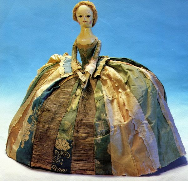 Letitia Penn doll (wood & textile)  English School, 18th century, belonged to the daughter of William Penn (1644-1718); one of the earliest in America © Philadelphia History Museum at the Atwater Kent
