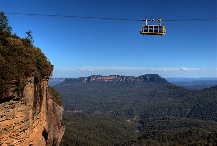 glass bottom cable car (I rode) in the Blue Mountains ... Katoomba, NSW, Australia