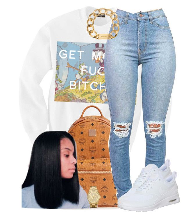 """""""Outfit #475 (Flee)"""" by whatevas ❤ liked on Polyvore featuring MCM, NIKE, Michael Kors and JanitaLuckett"""