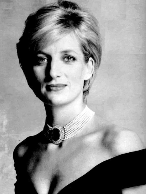 """Princess Diana- she was all too human. In this picture her expression says """"I'm just a person."""""""