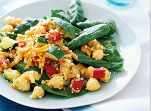 Warm chickpea & quinoa salad