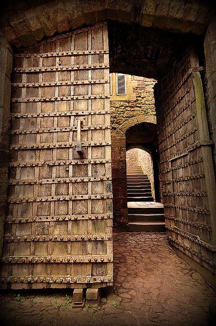 The Front Door at Dunster Castle, Somerset, England.