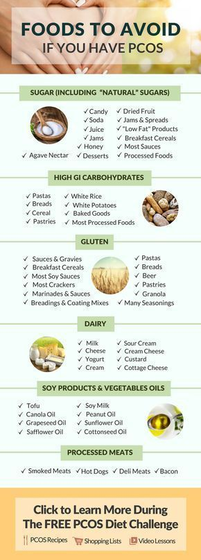 Foods to avoid in your PCOS recipes. Avoiding these foods helps with both weight loss and infertility! Learn more by doing the FREE 30 Day PCOS Diet Challenge where you will receive recipes + shopping lists + video lessons + community support + much much more! #Exerciseandyourthyroid