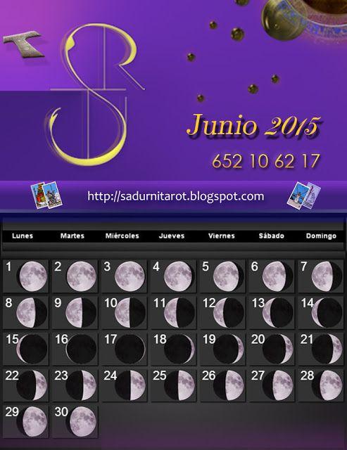 Sadurní Tarot: Calendario Lunar, Junio 2015