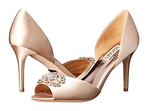 Womens Shoes Badgley Mischka Seneca Latte Satin