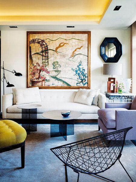 Pascua Ortega, beautiful ceiling and colorful furnishing