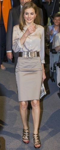Letizia has inaugurated the summer music course since 2013. Here's a look back at her past outfits for this event: 2014