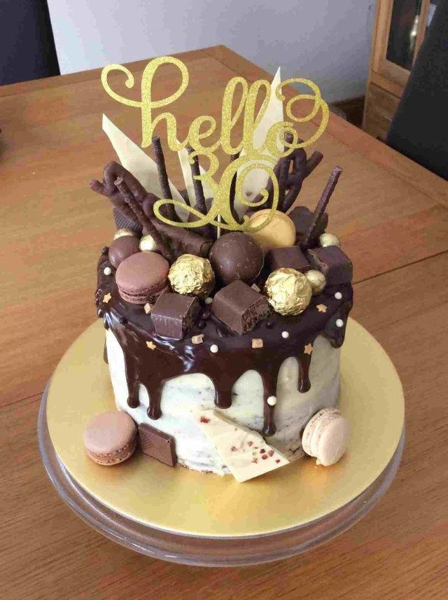 Cool How To Make A Drip Cake To Wow The Party With Images 21St Personalised Birthday Cards Beptaeletsinfo