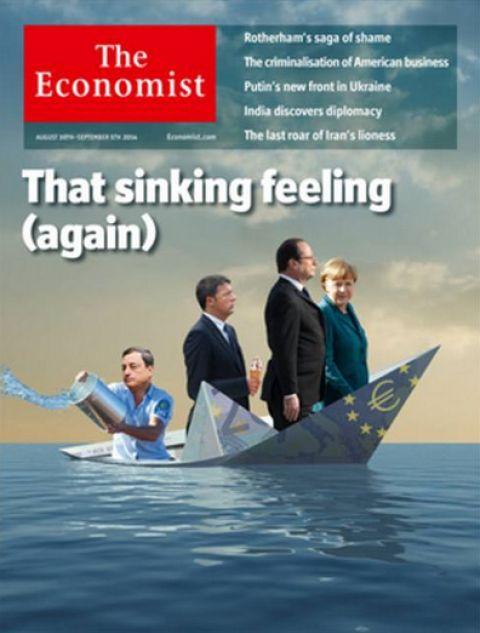 L'  #EuroDisastro per l'Economist in una vignettaScenarieconomici.it
