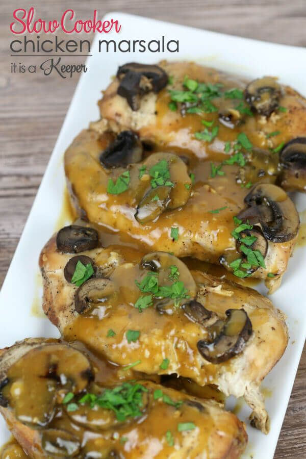 This Slow Cooker Chicken Marsala is one of my favorite easy crock pot recipes. Get the full recipe here.