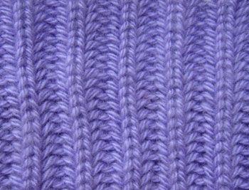 вязанный спицами узор английская резинка