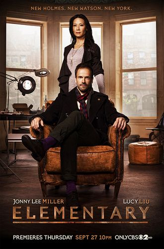elementary cbs 2012 season 1 poster. Love this show. New Watson. New Holmes. New York.