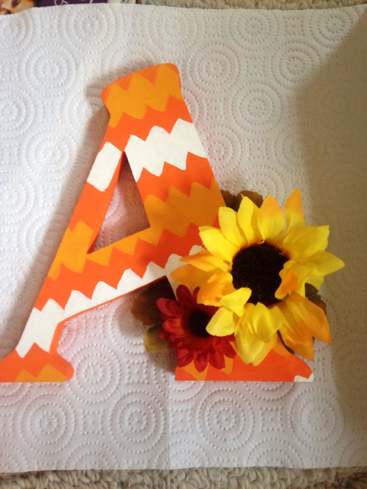 A gift I made for my grandlittle! #DIY #woodletter #woodenletter #chevron #LetterA #A #grandlittle #sorority