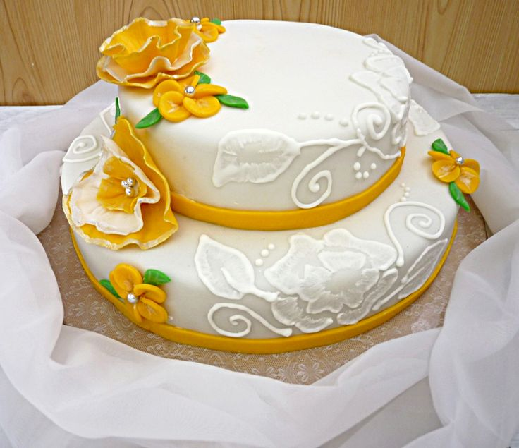 Designing Fondant Cake without the fondant tools.  www.foxyfolksy.com