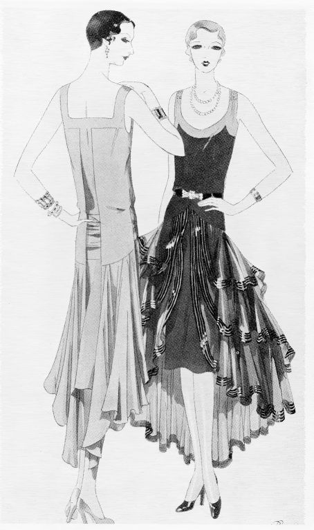 20s fashion illustration