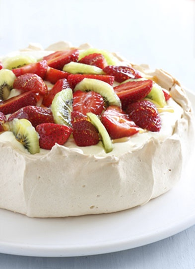 The ultimate Chrissy pav! Topped with delicious fruit and pure Capilano Honey :)
