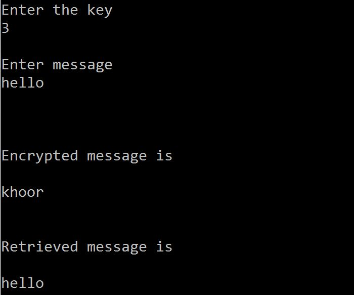 C code to Encrypt & Decrypt Message using Substitution Cipher | Let's Spread the Technology: http://www.coders-hub.com/2013/05/c-code-to-encrypt-and-decrypt-message.html