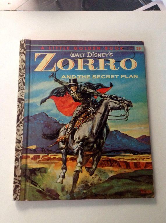 Vintage Little Golden Book Walt Disney Zorro A By Mom2marci 2050
