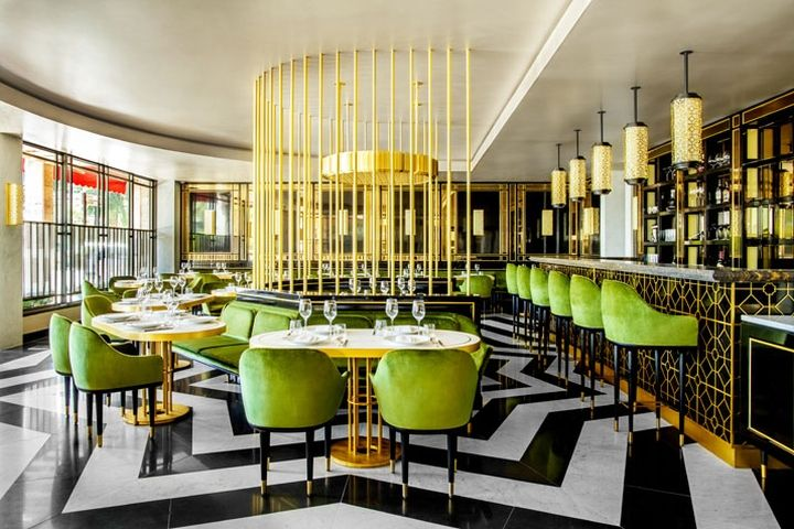 Striking in its elegance and Art Deco drama, the restaurant everyone's talking about at the moment is Song Qi in Monaco.