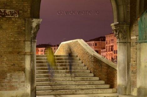 Vita Quotidiana Rialto Venezia Notte