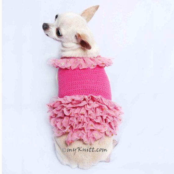 Dog de Barbie boda vestido tul suaves melocotón rosado oro
