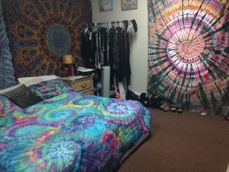 Tie Dye Blanket Duvet Cover Psychedelic Trippy Boho Bedding Bedroom Decor  Tapestry Pillow Cases Hippie Hippy
