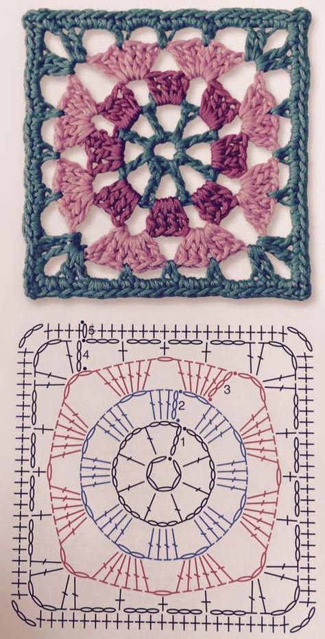 Tina's handicraft : granny squere motif
