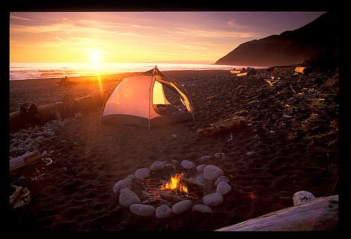 Camping on the Beach, favorite summer activities!