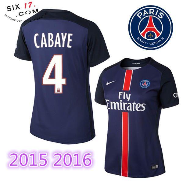 La boutique nouveau maillot psg femme 2015 2016 CABAYE Domicile manche courte Pas Cher Officiel