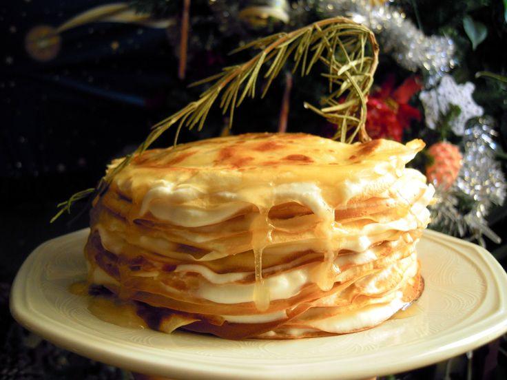 Torta di crepe al miele di rosmarino