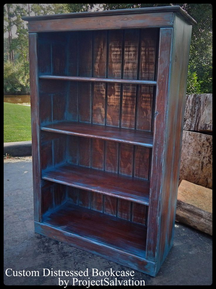 Custom Reclaimed Wood Bookcase/ Distressed Bookcase/ Cabinet By  ProjectSalvation On Etsy Https:/