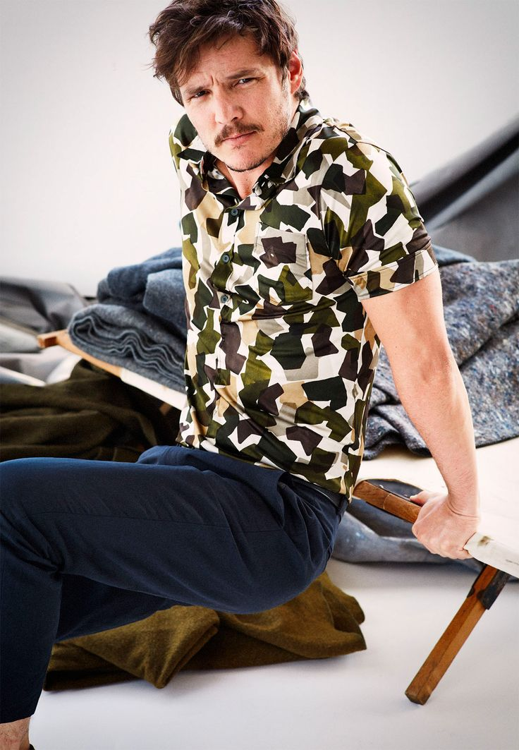 Narcos star Pedro Pascal is hard to miss in modern riffs on the pattern.
