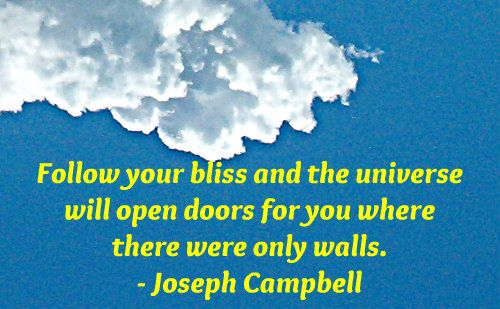 A wonderful quote from Joseph Campbell.