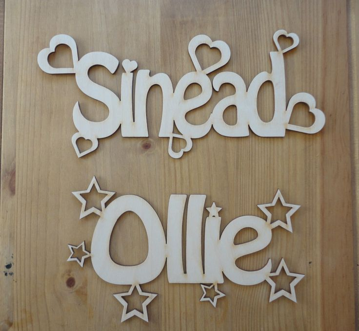 Personalised Wooden Name Plaques Words/Letters Wall/Door Art/craft/Sign alphabet…