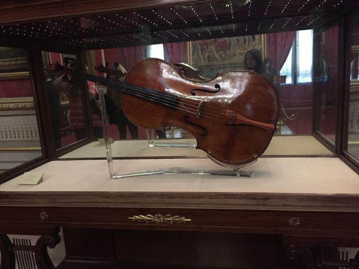 A one of a kind Stradivarius violin commissioned by the king & queen of Spain in 1700. Antonio Stradivarius, Madrid, Spain. At the Palacio Real museum.