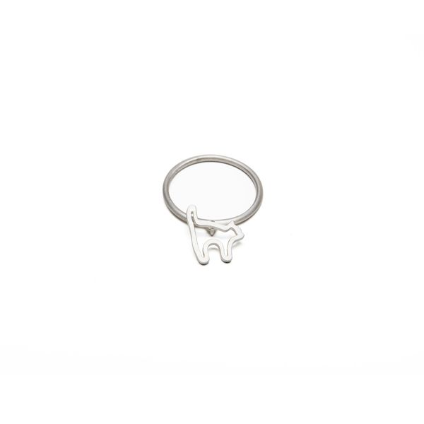 Terra Jewellery sterling silver ring for design4paws http://www.design4paws.com/?product=cat-outline-ring-2