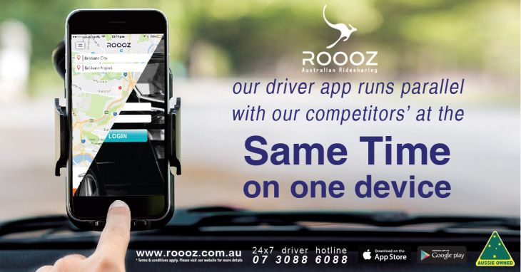 ROOOZ Driver app runs parallel with our competitors at the same time on one device.  http://bit.ly/2oVEuSt  #DrivewithROOOZ