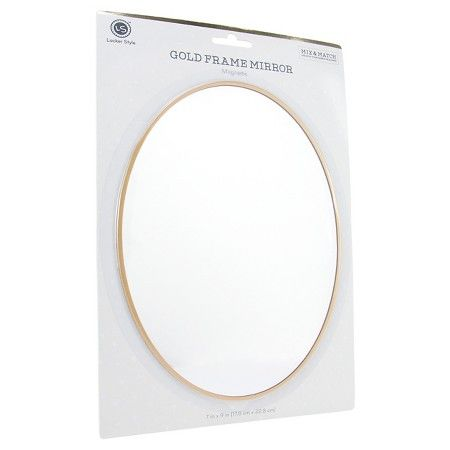 Locker Style™ Large Oval Mirror with Gold Frame : Target