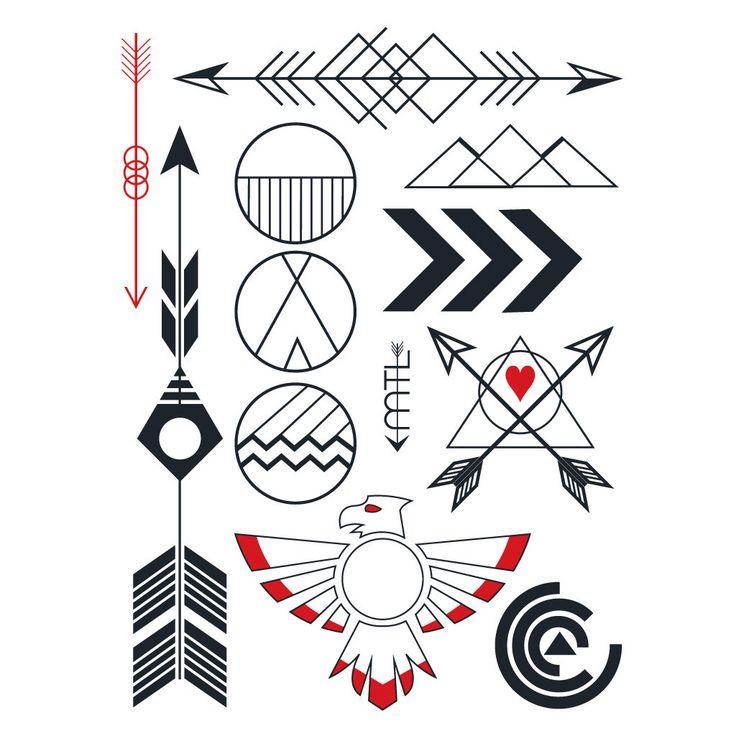 Les 25 meilleures id es de la cat gorie tatouages am rindiens en exclusivit sur pinterest - Tatouage indien signification ...
