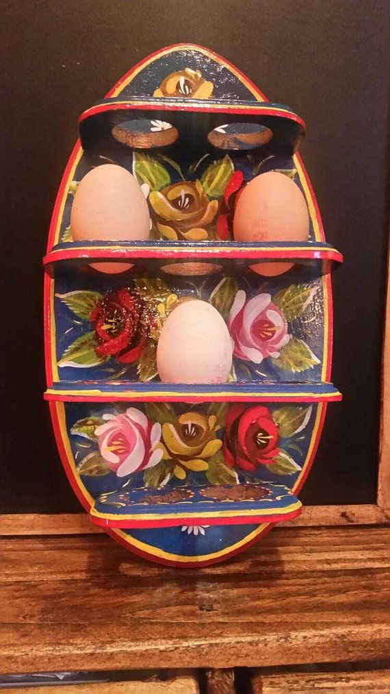 #canal art egg holder. by ukcanalart ,#barge art,#canal boat,#roses and castles