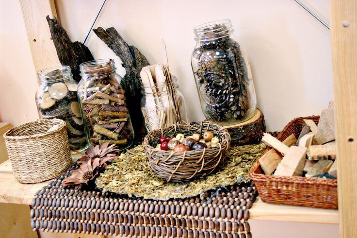 Natural Materials Shelf Reggio Emilia Inspired Preschool Art Studio Atelier…