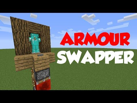 Minecraft 1 8 Redstone Tutorial Armour Stand Swapper