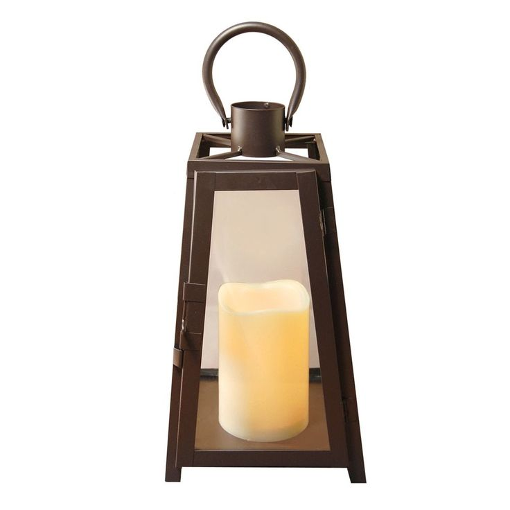 Specialties Metal Lantern with LED Candle Warm Tapered