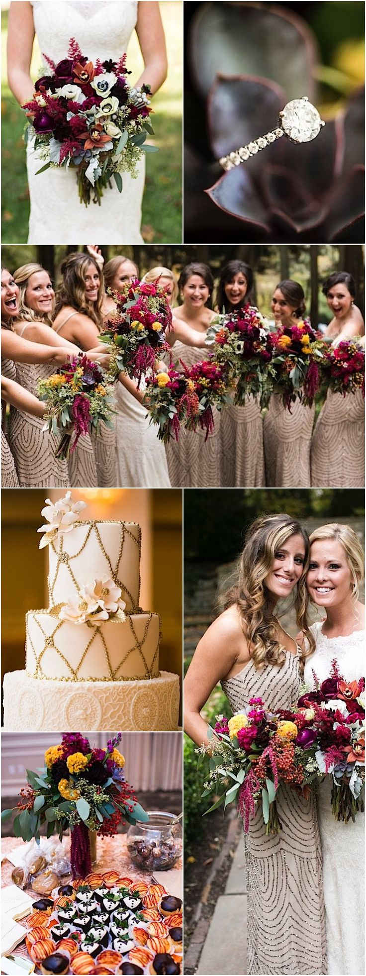 Gorgeous Fall wedding reception idea; photo: Carley K Photography