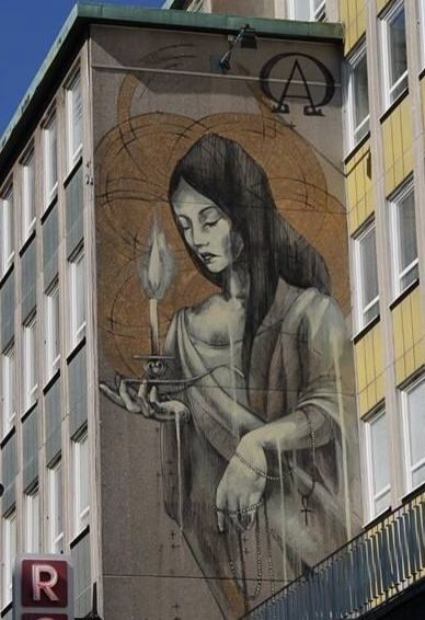 by Faith47 - New mural for Art Scape 2014 - Malmö, SW - 25.05.2014