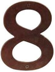 """Emtek 2828B Flat Black - 6"""" Height Bronze Address Number Eight by Emtek. $20.00. 6"""" Height Bronze Address Number Eight from the Door Accessories CollectionFor a quality, beautiful look, Emtek s Door Accessories cannot be beat. Like all Emtek products, the craftsmanship and materials that go into their household hardware is top quality. Emtek s brass hardware coordinates perfectly with other household hardware finishes. Features:Cast BronzeHeight: 6""""Width: 4-5/8""""Projection:..."""